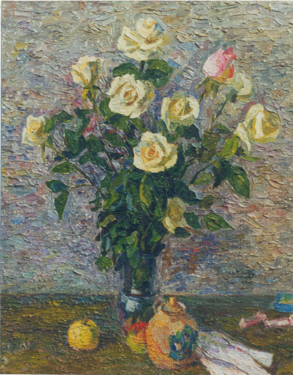 Белые розы60х50