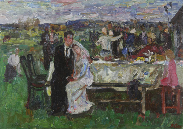 Деревенская свадьба32х45
