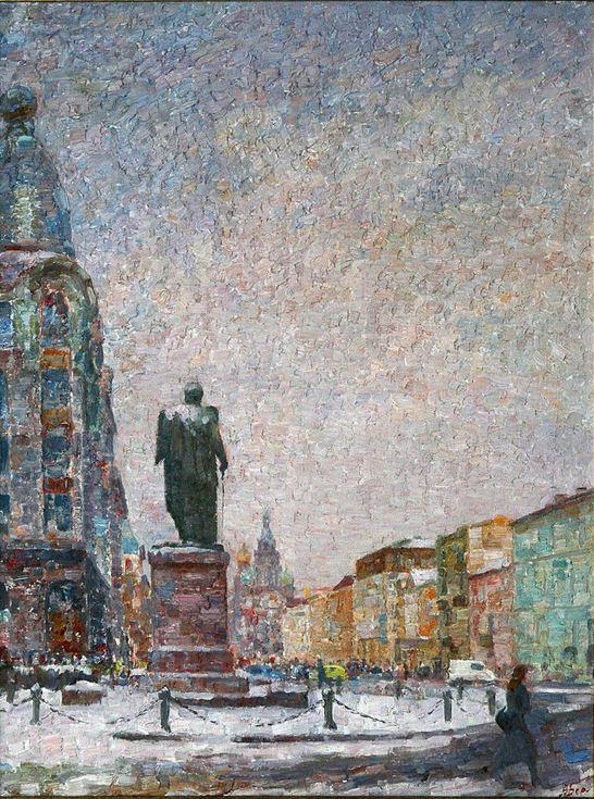 Зима в Петербурге80х602001г