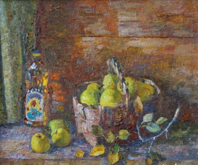 Натюрморт с яблоками49х56