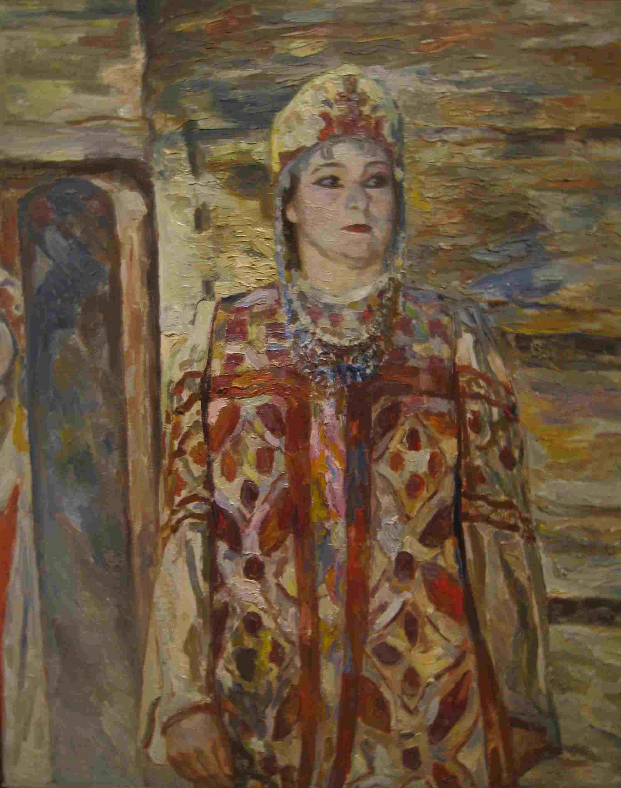 Портрет в театральном костюме90х70