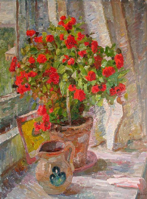 Цветы на окне73х541992г