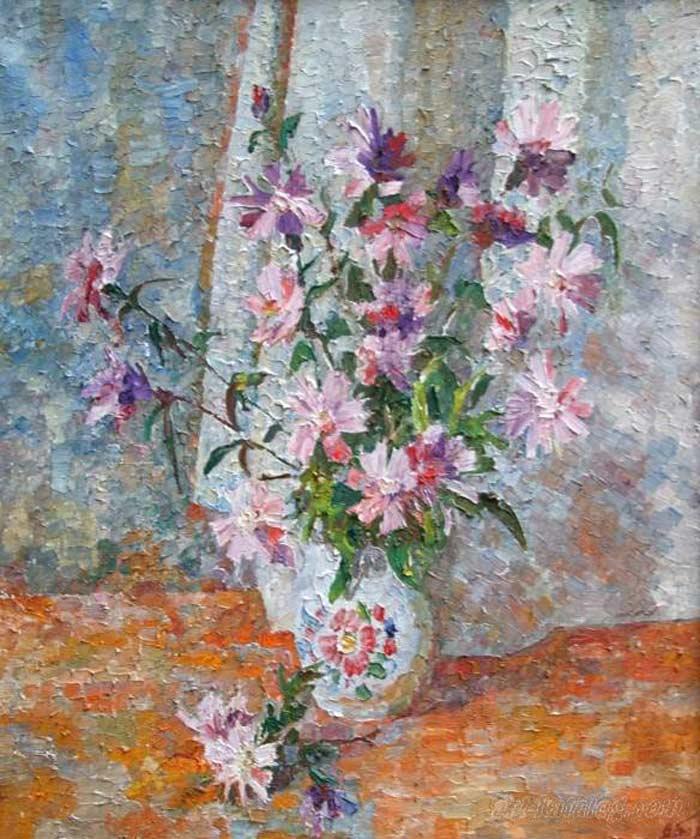 розовые-цветы60х50