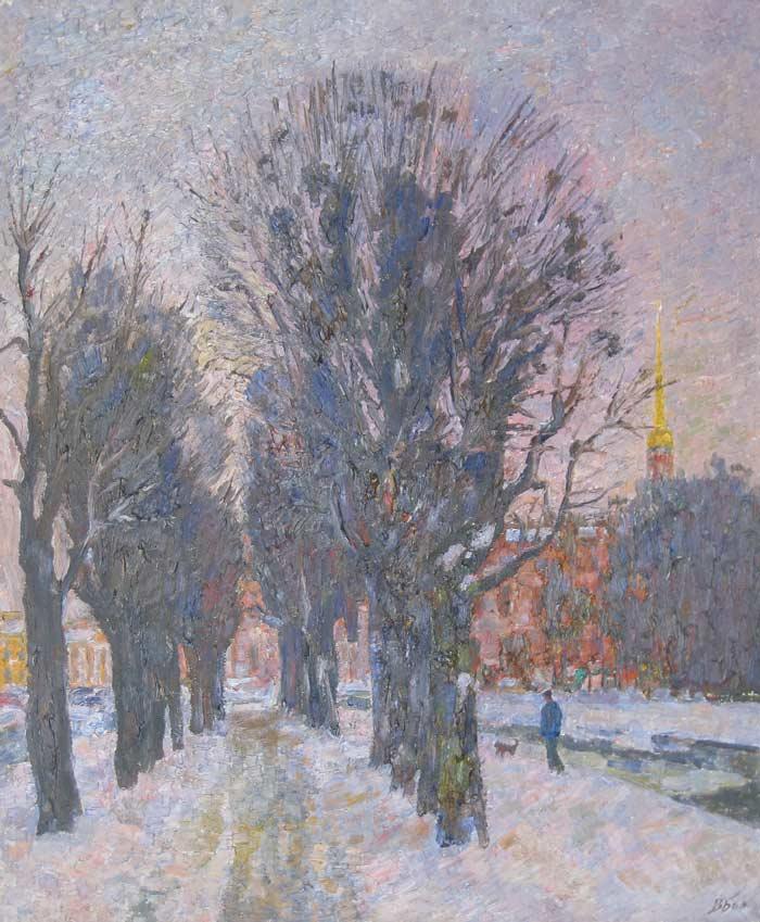 061-Зима-у-Мойки-80х60-2009