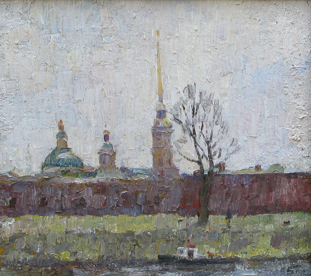 1985.-Петропавловская-крепость.-х.м.-25х28